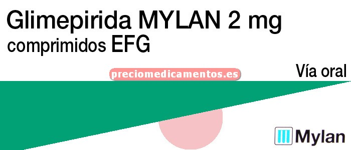 Caja GLIMEPIRIDA MYLAN EFG 2 mg 120 comprimidos