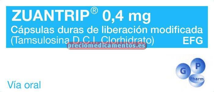 Caja ZUANTRIP EFG 0,4 mg 30 cápsulas liber modificada