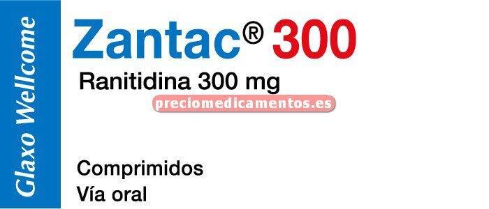 Caja ZANTAC 300 mg 28 comprimidos recubiertos