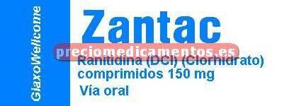Caja ZANTAC 150 mg 28 comprimidos recubiertos
