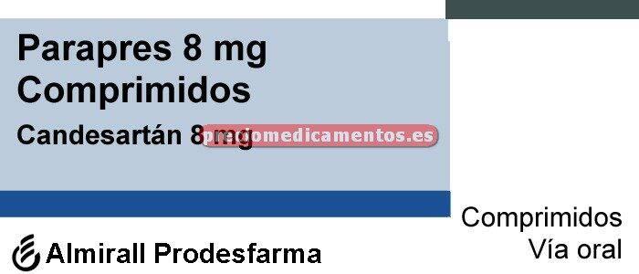 Caja PARAPRES 8 mg 28 comprimidos