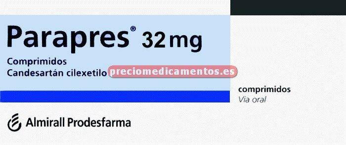 Caja PARAPRES 32 mg 28 comprimidos