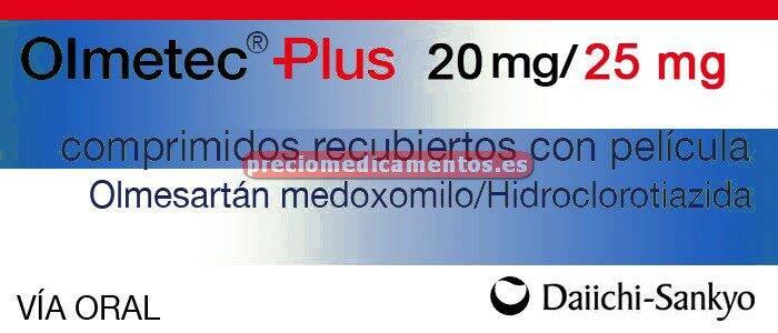 Caja OLMETEC PLUS 20/25 mg 28 comprimidos recubiertos