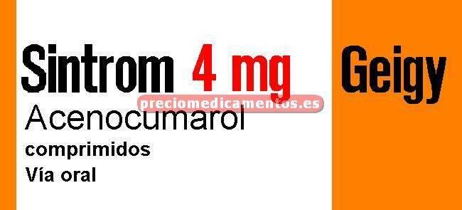 Caja SINTROM 4 mg 20 comprimidos