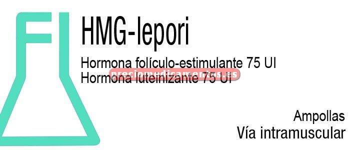 Caja HMG LEPORI 75/75 UI 10 viales + 10 ampollas 1 ml