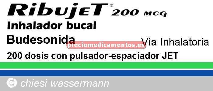 Caja RIBUJET 200 mcg/pulsación aerosol 200 dosis