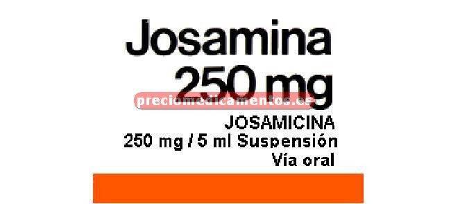 Caja JOSAMINA 250 mg/5 ml suspensión 100 ml