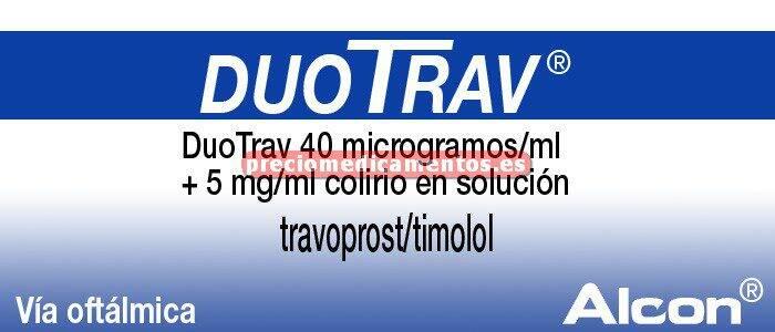 Caja DUOTRAV 40 mcg/ml - 5 mg/ml colirio 2,5 ml