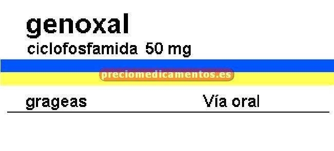 Caja GENOXAL 50 mg 20 grageas