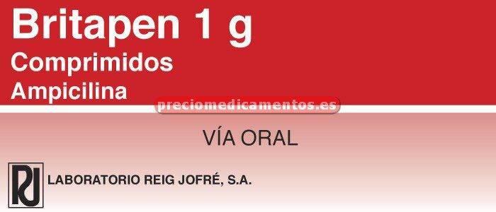 Caja BRITAPEN 1 g 12 comprimidos