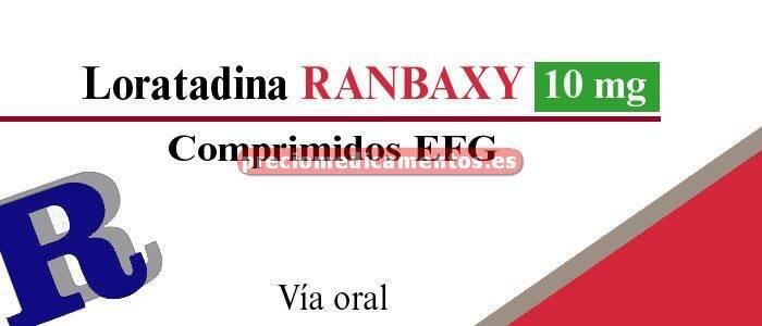 Caja LORATADINA RANBAXY EFG 10 mg 20 comprimidos