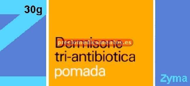 Caja DERMISONE TRI ANTIBIOTICA pomada 30 g