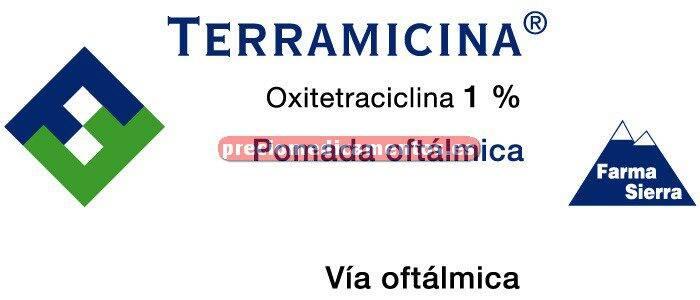 Caja TERRAMICINA OFTALMICA 1% pomada 3,5 g