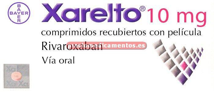 Caja XARELTO 10 mg 30 comprimidos recubiertos