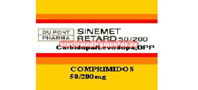 Caja SINEMET RETARD 50/200 mg 100 comprimidos liberació retardada