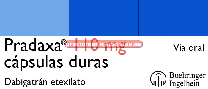 Caja PRADAXA 110 mg 10 cápsulas duras