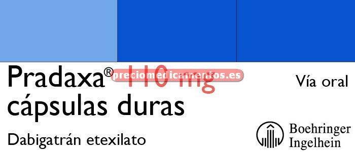 Caja PRADAXA 110 mg 60 cápsulas duras