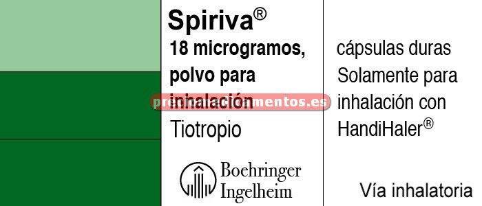 Caja SPIRIVA 18 mcg 30 cápsulas - 1 dispositivo handihaler polvo