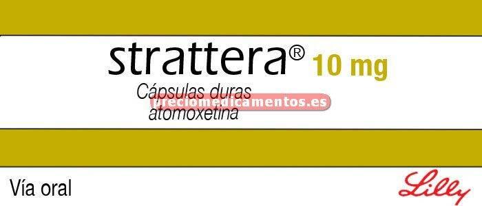 Caja STRATTERA 10 mg 7 cápsulas