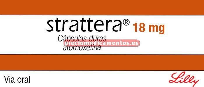 Caja STRATTERA 18 mg 7 cápsulas