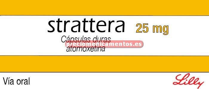 Caja STRATTERA 25 mg 7 cápsulas