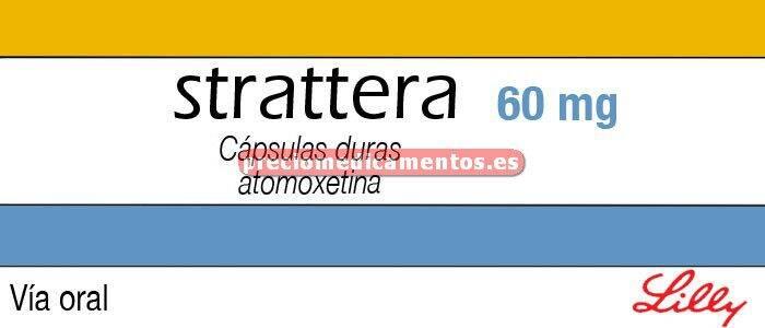 Caja STRATTERA 60 mg 28 cápsulas