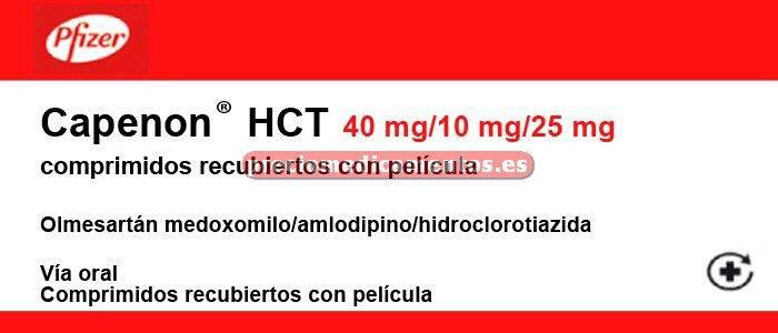 Caja CAPENON HCT 40/10/25 mg 28 comprimidos rec