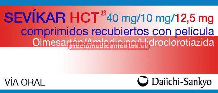 Caja SEVIKAR HCT 40/10/12,5 mg 28 comprimidos recub