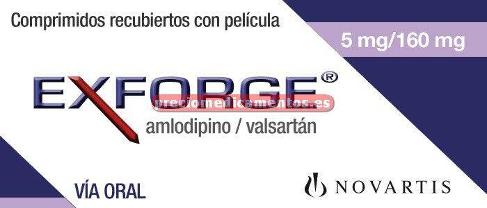 Caja EXFORGE 5/160 mg 28 comprimidos recubiertos