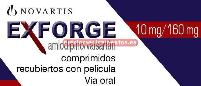 Caja EXFORGE 10/160 mg 28 comprimidos recubiertos