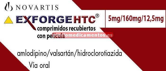 Caja EXFORGE HCT 5/160/12,5 mg 28 comprimidos recubiertos