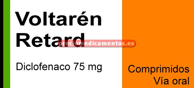 Caja VOLTAREN RETARD 75 mg 40 comprimidos liberación prolongada