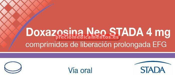 Caja DOXAZOSINA NEO STADA EFG 4 mg 28 compr lib control