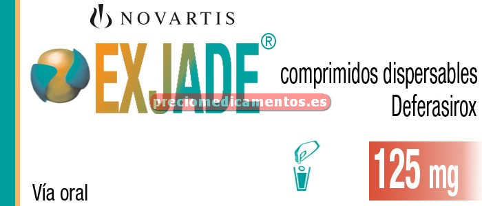 Caja EXJADE 125 mg 28 comprimidos dispersables