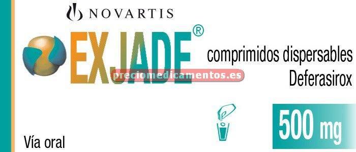 Caja EXJADE 500 mg 28 comprimidos dispersables
