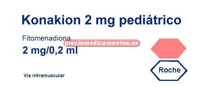 Caja KONAKION 2 mg 5 ampollas 0,2 ml PEDIAT oral/iny