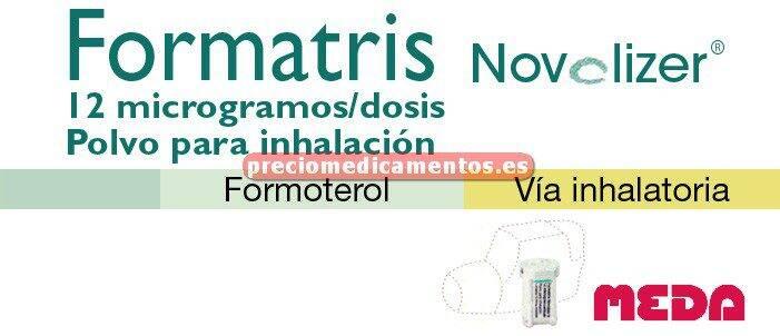 Caja FORMATRIS NOVOLIZER 12mcg/dosis inhal-cart 60dosis