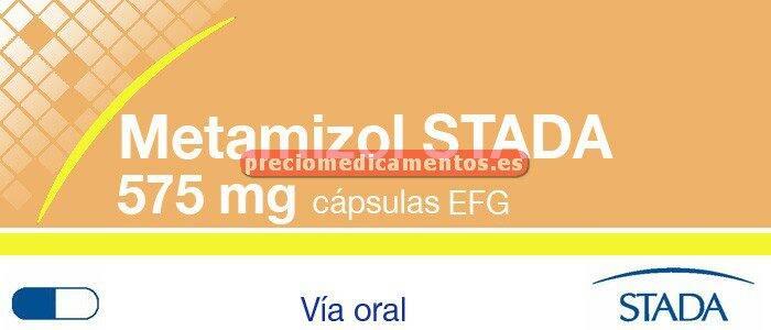 Caja METAMIZOL STADA EFG 575 mg 20 cápsulas