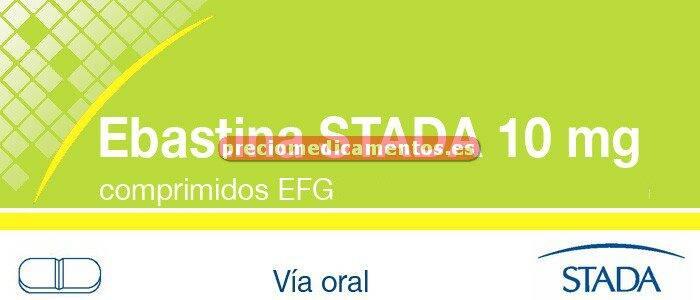Caja EBASTINA STADA EFG 10 mg 20 comprimidos recub