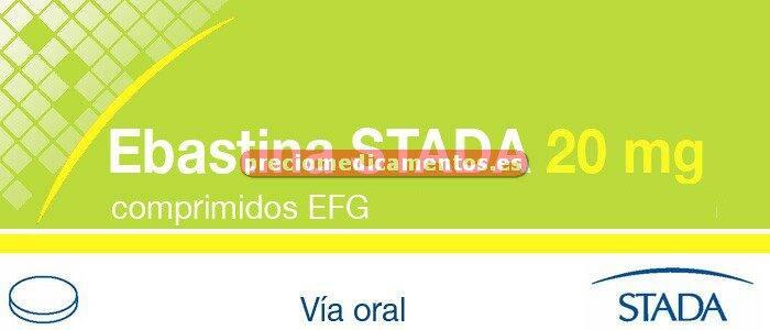 Caja EBASTINA STADA EFG 20 mg 20 comprimidos recub