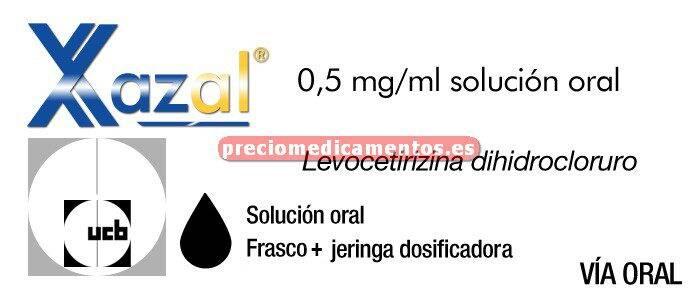 Caja XAZAL 0,5 mg/ml solución oral 200 ml