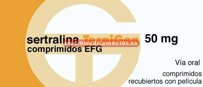 Caja SERTRALINA TECNIGEN EFG 50 mg 30 comprim recub