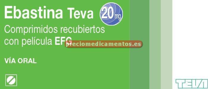 Caja EBASTINA TEVA EFG 20 mg 20 comprimidos