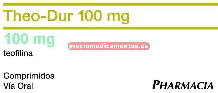 Caja THEO DUR RETARD 100 mg 40 comprimidos lib control