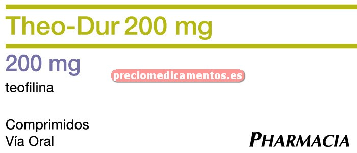 Caja THEO DUR RETARD 200 mg 40 comprimidos lib control
