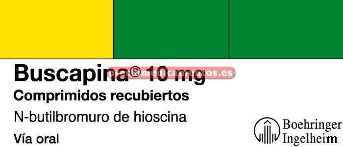 Caja BUSCAPINA 10 mg 60 comprimidos recubiertos