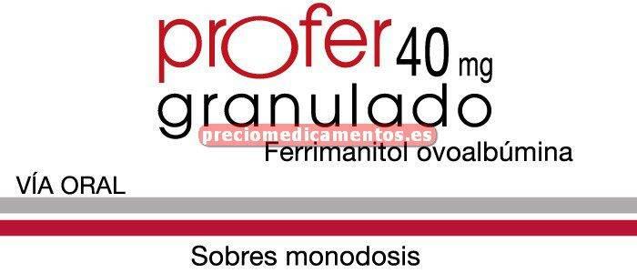 Caja PROFER 300 mg (40 mg Fe) 30 sobres granulado