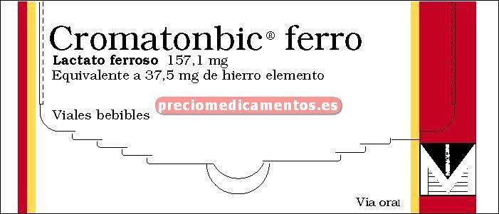 Caja CROMATOMBIC FERRO 157,1 mg 30 viales bebibles 12ml