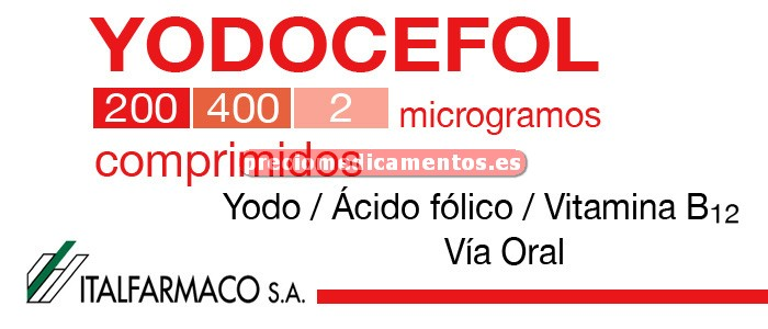 Caja YODOCEFOL 28 comprimidos