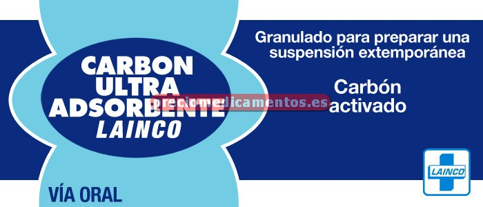 Caja CARBON ULTRA ADSOR LAINCO 50 g/frasco granul 61,5g